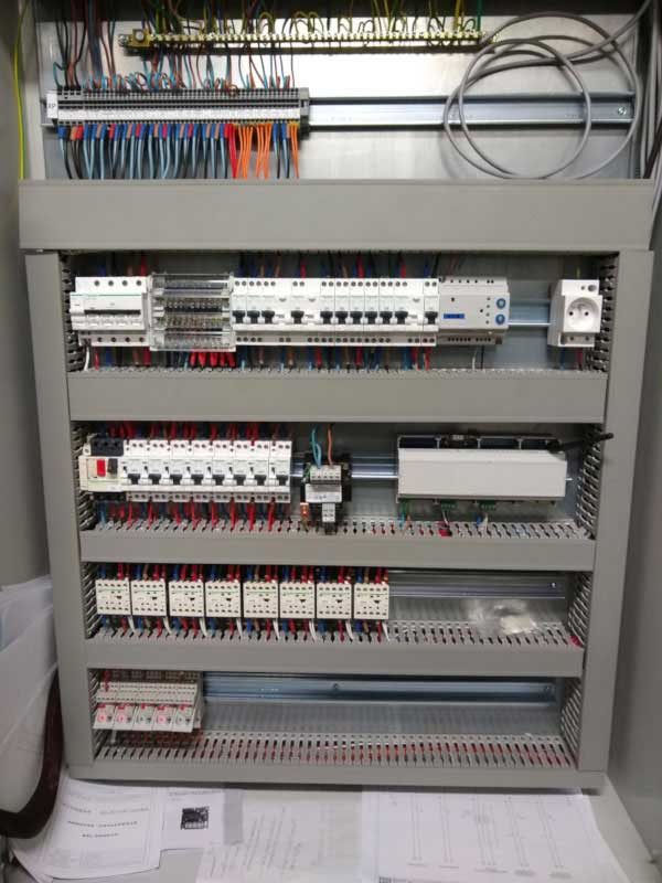 Control cabinet with the installed Box